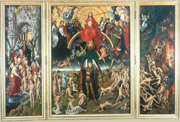 """Hans Memling, """"Sąd Ostateczny"""". To ten obraz, a zwłaszcza postacie znajdujące się po prawej stronie tryptyku, służą mordercy za inspirację…"""