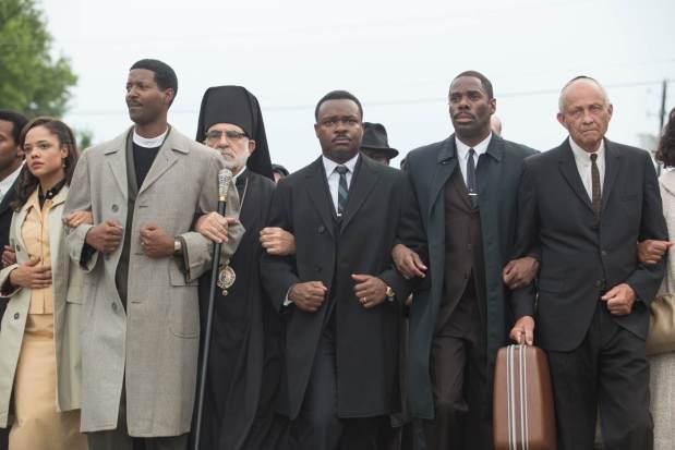 David Oyelowo (w środku) jest łudząco podobny do Martina Luthera Kinga / Fot. materiały prasowe