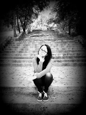 Ewelina Dyda. W tle schody, o których mowa w